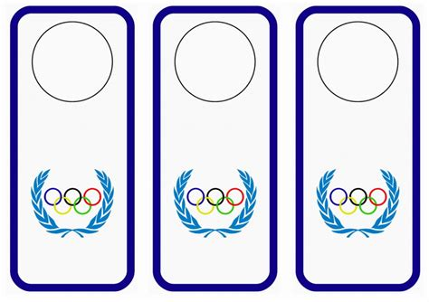printable olympic name tags olympics door hangers birthday printable