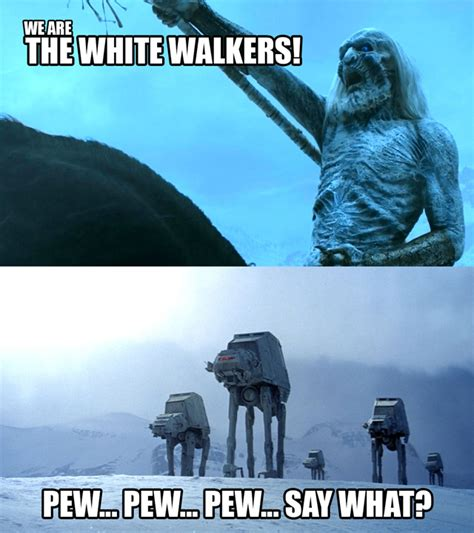 Star Wars Game Of Thrones Meme - star wars vs game of thrones funny fan made mashups