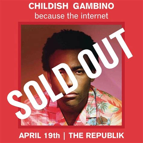 childish gambino uk tour tickets childish gambino tickets the republik on april 19 2014
