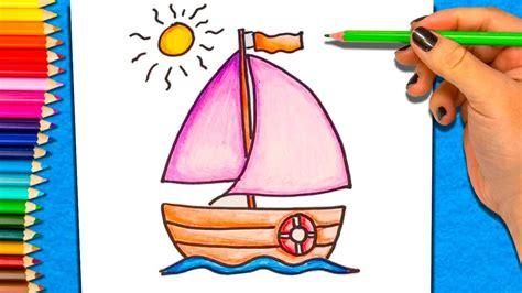 barco dibujos faciles c 243 mo dibujar y colorear un barco dibujos para ni 241 os