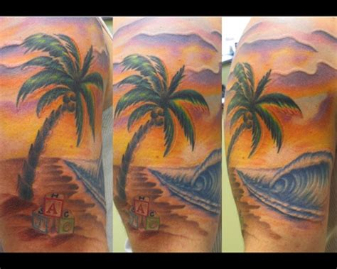 tropical beach tattoo designs surf to our and tattoos ibytemedia