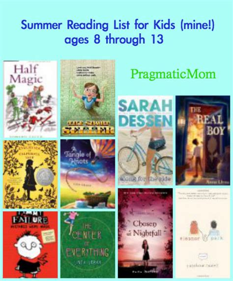biography book list for 6th grade summer reading list for kids mine ages 8 through 13