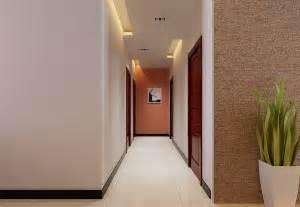 Corridor ceiling lights 3d view interior design
