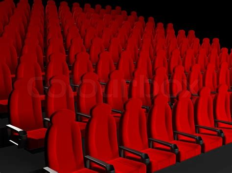 best seats 3d theater theater seats 3d rendered image stock photo