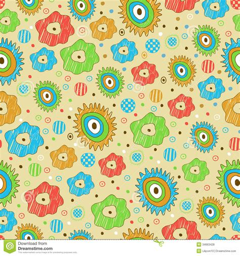 background pattern bright bright seamless floral pattern stock vector image 34663428