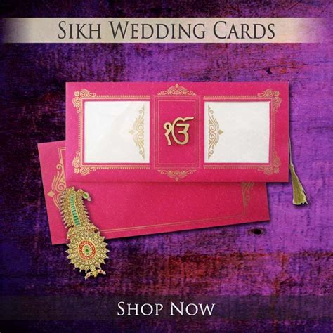 Sikh Wedding Invitation Cards by Indian Wedding Cards Indian Wedding Invitations Hindu