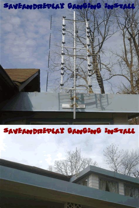 hdtv antenna and cable together ota the air antenna stacking or ganging