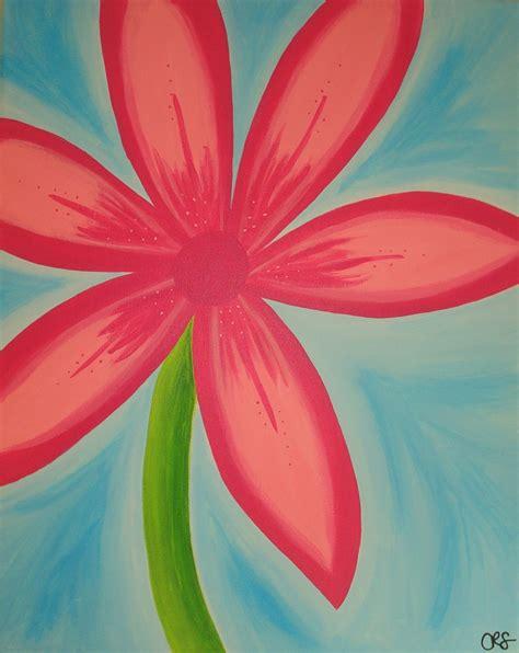 Canvas Flower 12 my favorite pink summer flower canvas wall original