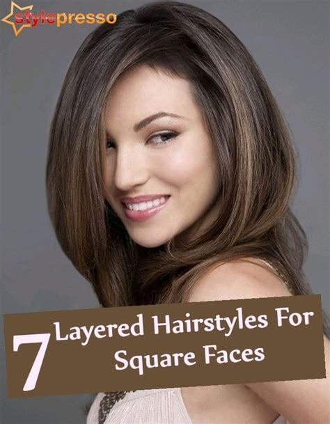 hairstyles for square face shapes female 7 layered hairstyles for square faces style presso