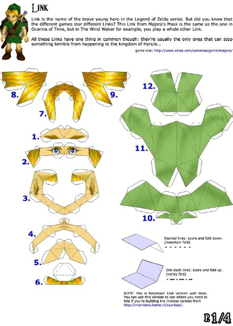 Papercraft Legend Of - legend of link papercraft template ideas para el