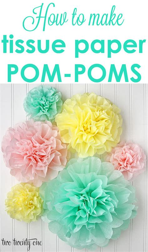 How To Make Flat Tissue Paper Flowers - tissue paper pom poms pictures photos and images for