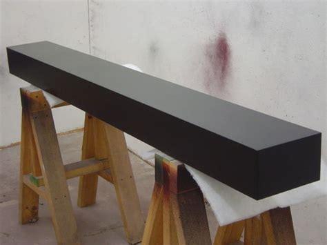 box beam style black contemporary mantel mantle shelf 8
