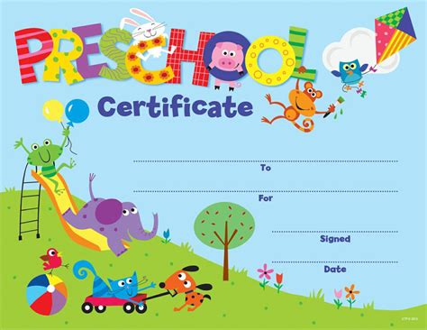 welcome certificate template preschool certificate awards ctp1398
