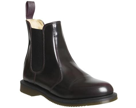 womans chelsea boots womens dr martens flora chelsea boot cherry arcadia