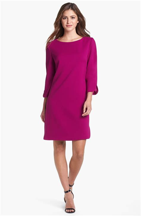 Ellisa Dress eliza j shift dress in purple magenta lyst