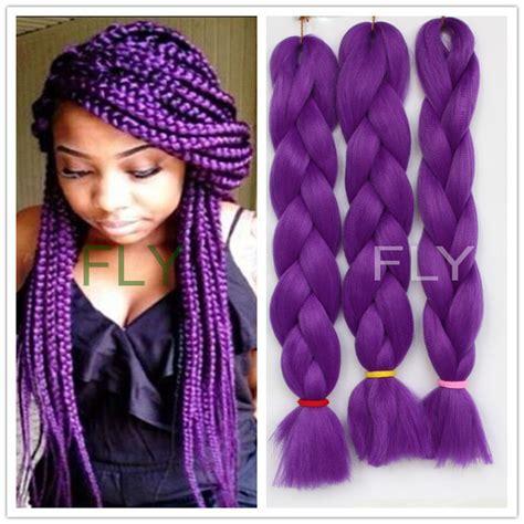 24 '' 5pcs500g 7 cores sintético trança de cabelo