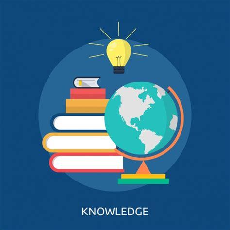 the knowledge how to knowledge background design vector free download