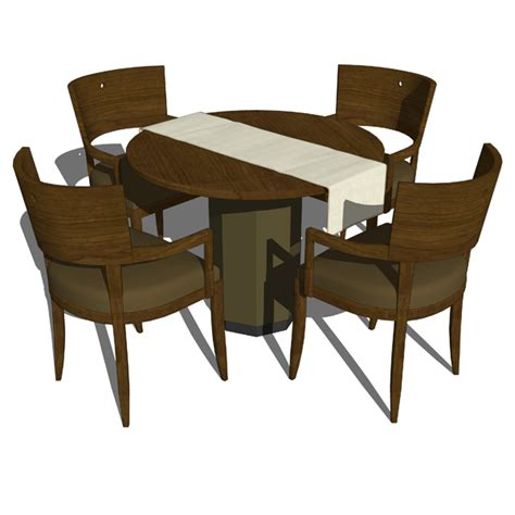 Restaurant dining set 3d model formfonts 3d models amp textures