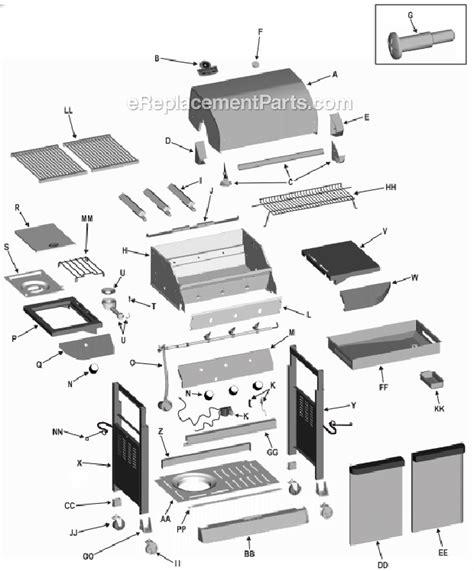 char broil parts diagram char broil 463251605 parts list and diagram