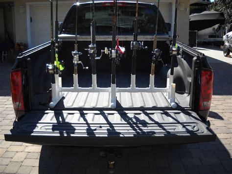 fishing rod racks transport storage for truck beds