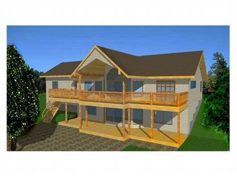 house plans sloped lot plan 012h 0025 find unique house plans home plans and floor plans at thehouseplanshop