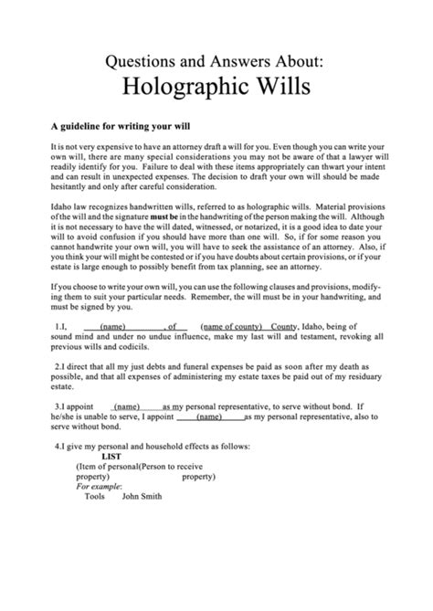 Writing Your Will Worksheet Template Printable Pdf Download Writing Your Will Template