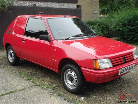 old peugeot van classic 1986 peugeot 205 xa van 41 000mls