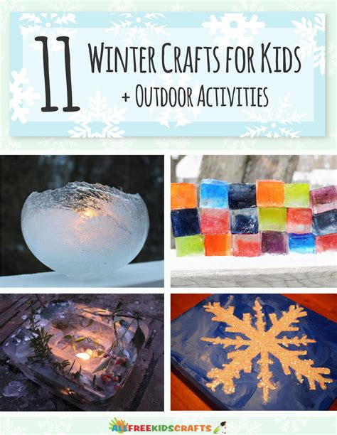 8 Winter Crafts For by 11 Winter Crafts For Outdoor Activities Free Ebook