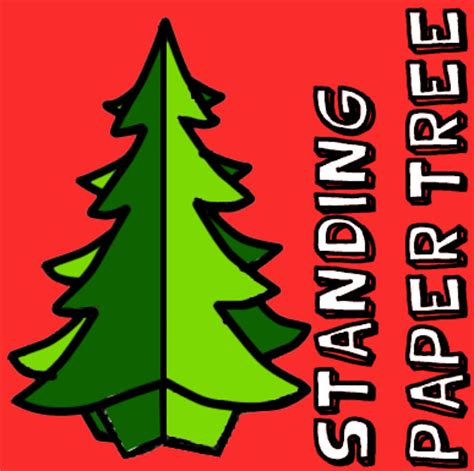 how to make a standing paper christmas tree kids crafts