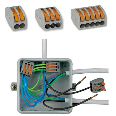 how do wire connectors work wago connectors 222 series 2 3 5 port lever cage cl