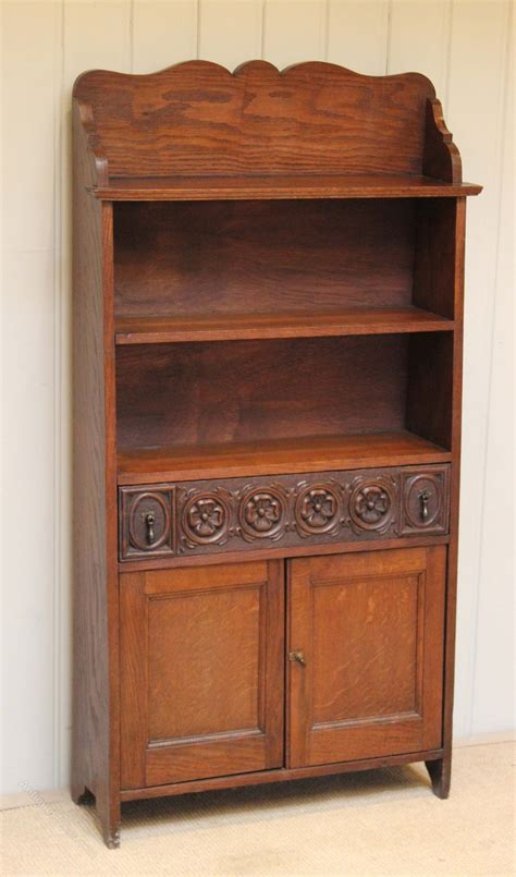 small oak bookcase cabinet antiques atlas