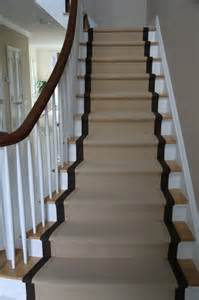Custom Stair Runner by Wide Binding Sisal Runners Traditional Staircase New