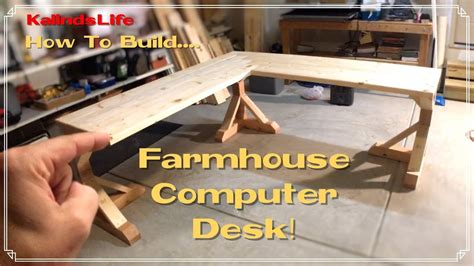 Plans To Build A Desk by How To Build This Awesome Farmhouse Corner Desk Less Than