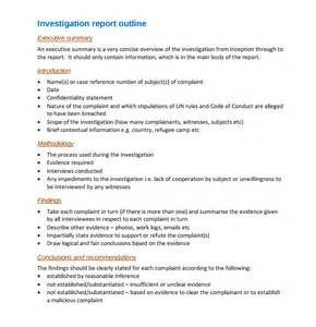 Investigation Template by Sle Investigation Report Template 9 Free Documents
