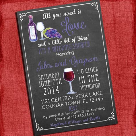 wine bridal shower invitations 26 wedding shower invitation templates free sle
