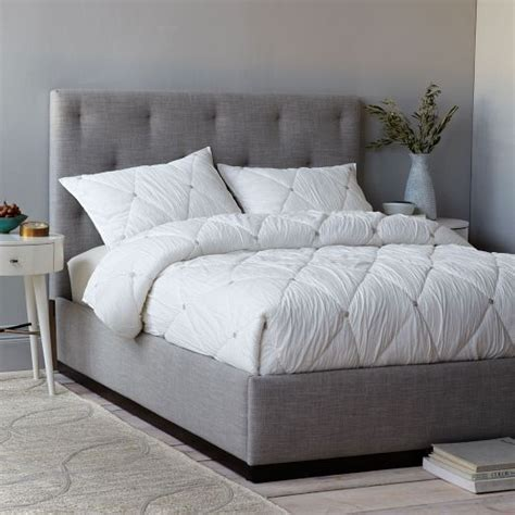 tufted headboard with frame 25 best ideas about tufted bed frame on pinterest