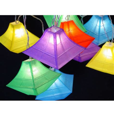 China Pagoda Shape Paper Lantern String Light Decor05 How To Make Paper Lantern String Lights