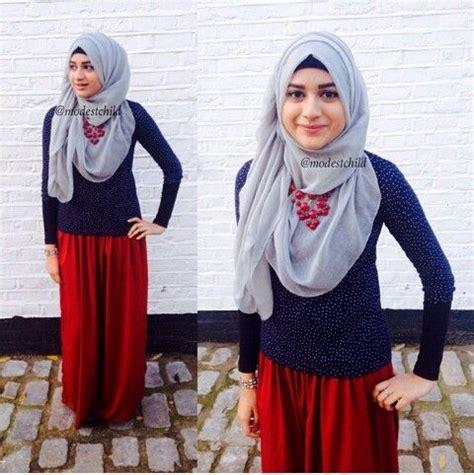 Baju Kaos Anak Perempuan 13 model baju muslim modis berbahan kaos terbaik