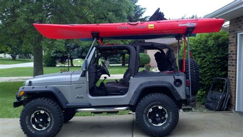 jeep kayak rack current bushcraft vehicle auto s en busjes pinterest