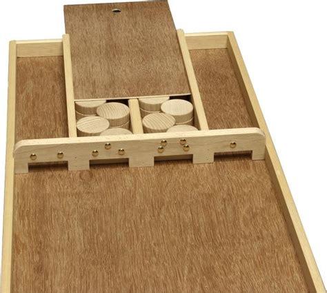 schubfach bauen sjoelbak familien das original shuffleboard spiel aus