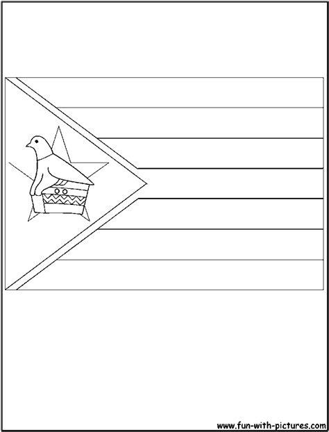 flag zimbabwe coloring page