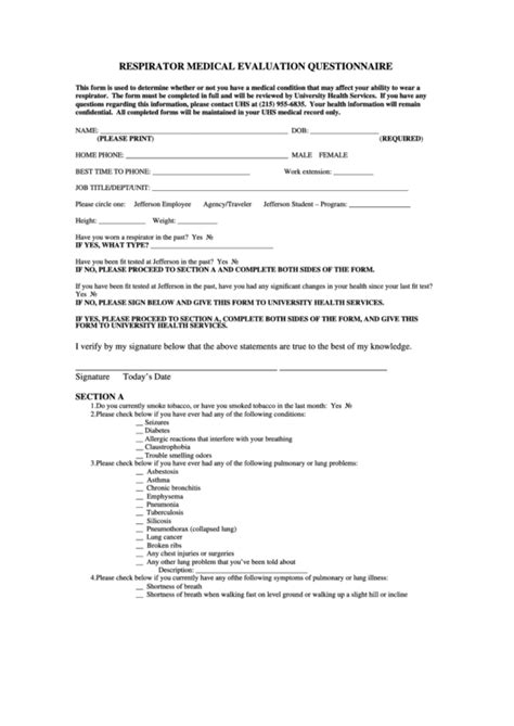 Top 7 Respirator Fit Test Form Templates Free To Download In Pdf Word And Excel Formats Respirator Fit Test Card Template