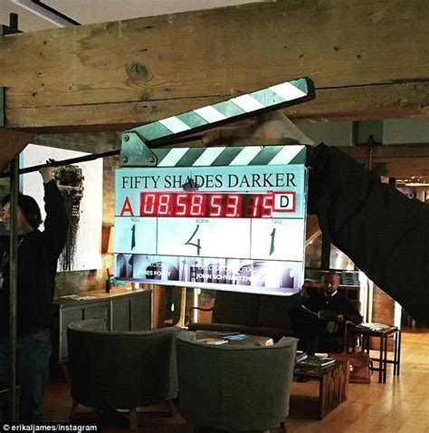 fifty shades darker filming begins el james says fifty shades darker has begun filming as