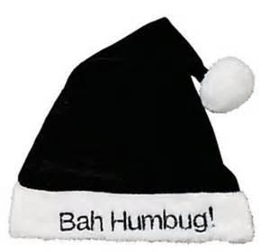 bah humbug black santa hat bah humbug christmas hat