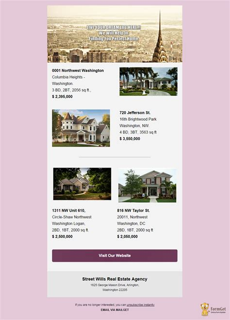 10 Free Real Estate Email Templates Mailget Free Real Estate Email Templates