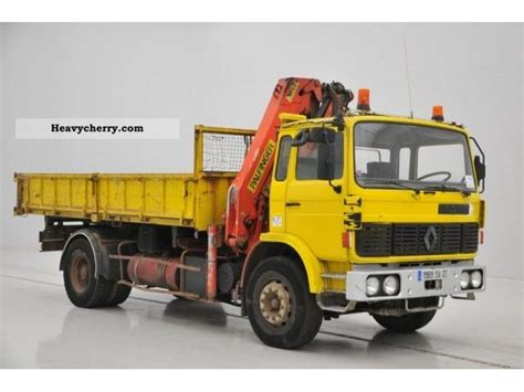 renault g290 1990 tipper truck photo and specs