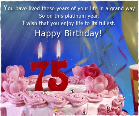 Quotes On 75th Birthday 75th Birthday Cards Quotes Wishes Messages And Images