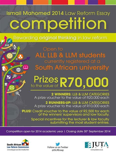 Essay Writing Competition by 2014 Ismail Mahomed Reform Essay Competition Strategic Writing