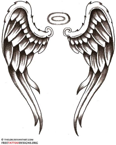 wings with halo tattoo designs 45 wings designs and images
