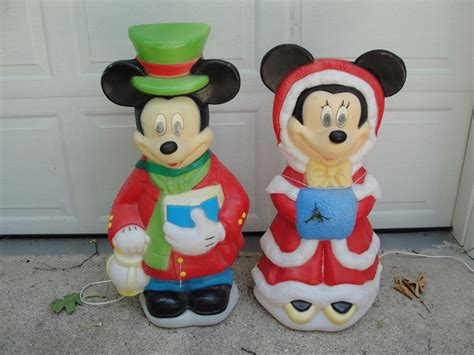 34 quot disney mickey minnie mouse lighted outdoor mold yard decor ebay